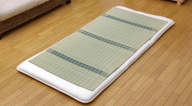 純国産 い草のシーツ(寝ござ)「新大目舞子」シングル 約88×180cm